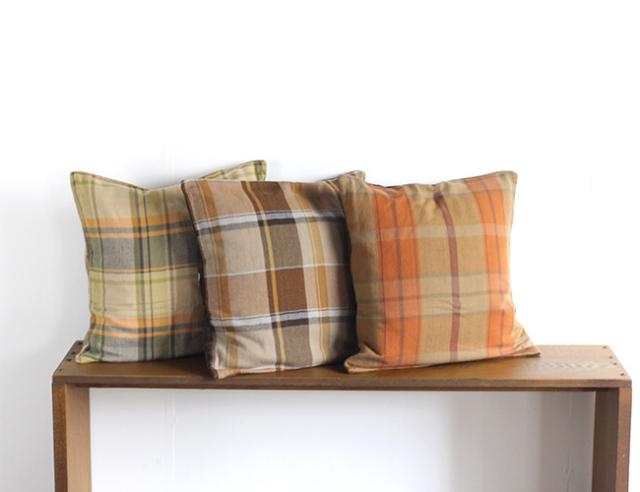 BasShu Cushion Cover OLD FLANNEL  クッションカバー オールドフランネルチェック