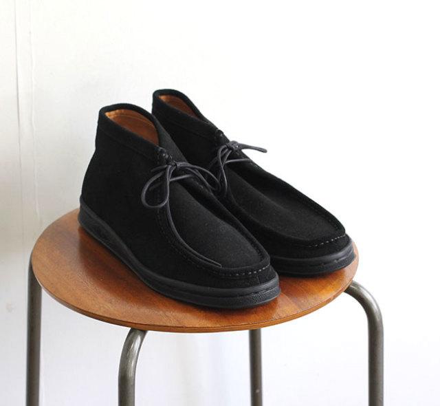 MANEBU マネブ BOO MID SUEDE BLACK ワラビーブーツ ブラック MNB-032