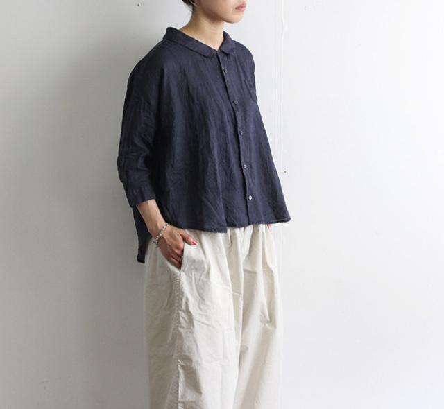 ordinary fits オーディナリーフィッツ リネンバーバーシャツ OF-S053