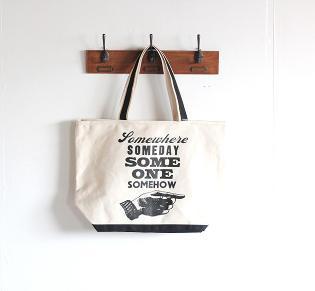 A TWO PIPE PROBLEM LETTERPRESS   TOTE BAG L SOME ALL