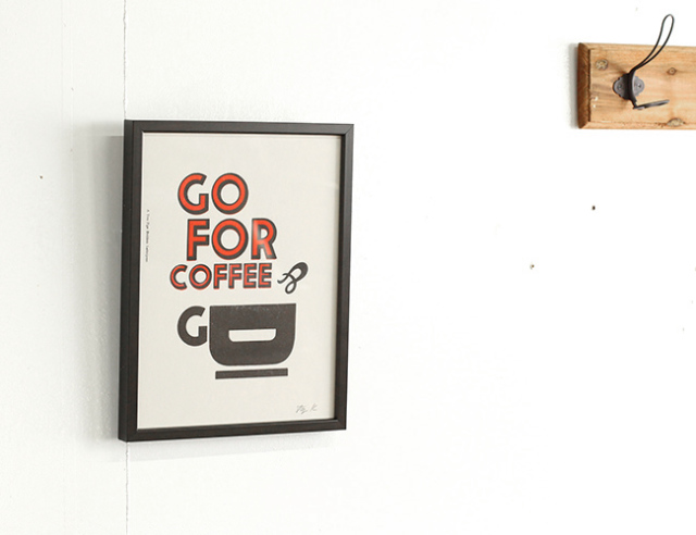 A TWO PIPE PROBLEM LETTERPRESS   GO FOR COFFEE Sサイズ