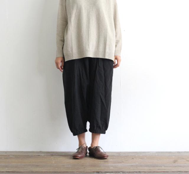 evam eva  エヴァムエヴァ リネンサルエルパンツ linen sarrouel pants V203T917