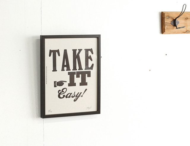 A TWO PIPE PROBLEM LETTERPRESS   TAKE IT EASY Sサイズ 再入荷