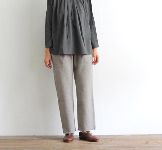 evam eva  エヴァムエヴァ プレスウールパンツ press wool pants E203K056