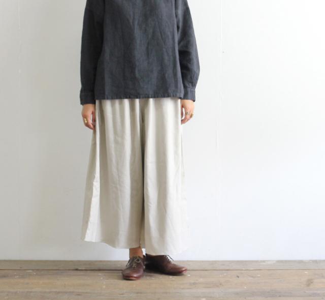 evam eva  エヴァムエヴァ cotton silk gather pants V193T906