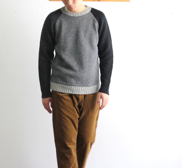 SALE30%OFF soglia  LANDNOAH Sweater CRAZY ソリア エルボーパッチセーター クレージー