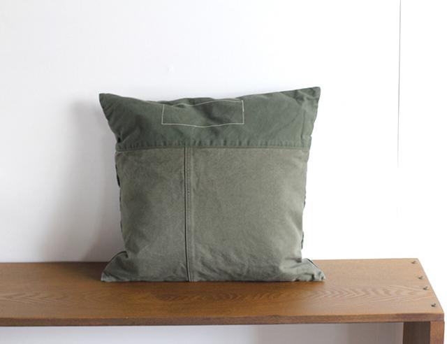 BasShu Cushion Cover KHAKI クッションカバー カーキ
