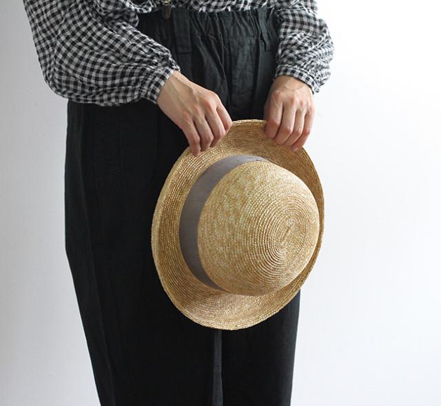 NAPRON ナプロン ボーラー麦わら帽子 STRAW BRADE BOWLER  NP-HT09