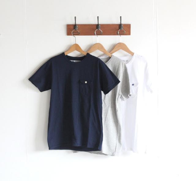 EEL イール 陶器釦のポケTee Tシャツ