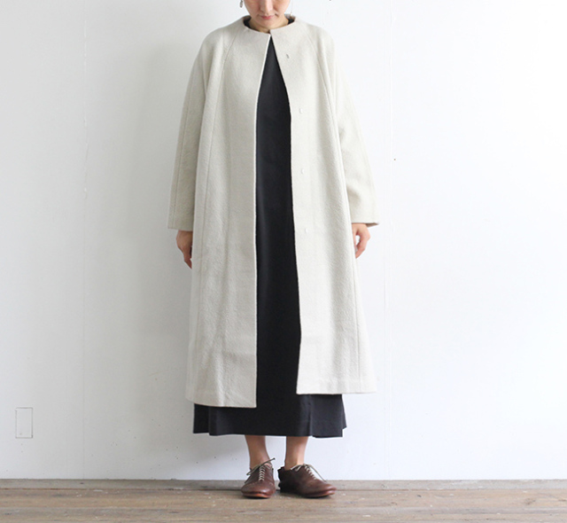 evam eva  エヴァムエヴァ プレスウールロングコート press wool long coat E203K054