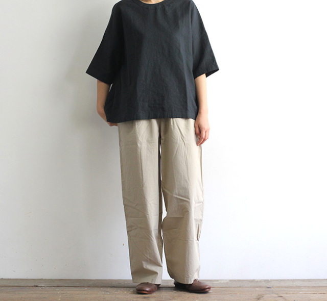 evam eva  エヴァムエヴァ コットンイージーパンツ cotton easy pants E211T069