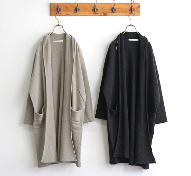 evam eva  エヴァムエヴァ ウールセーブルローブ wool sable robe E203K139