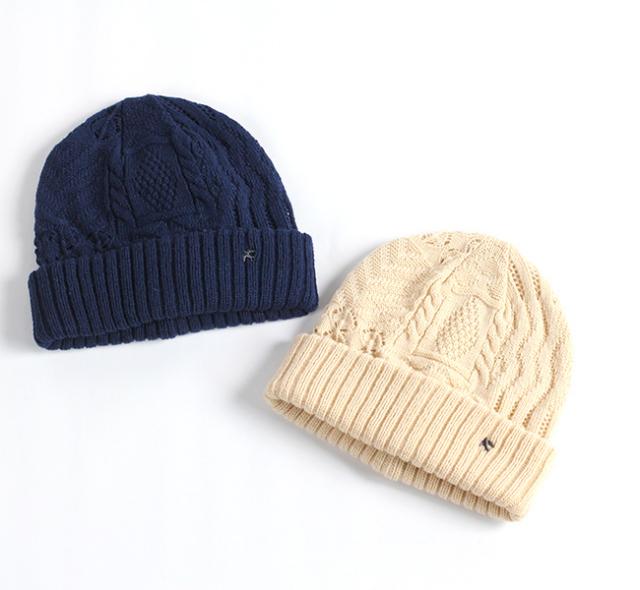 スリープスロープ アートジャガードニット帽