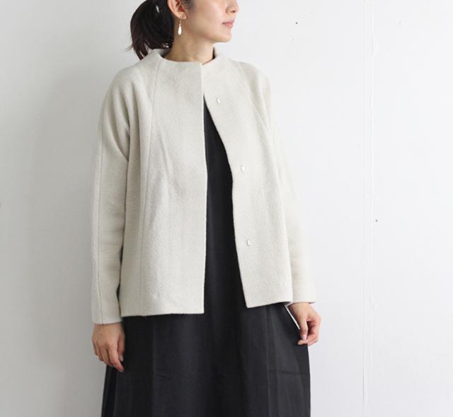 evam eva  エヴァムエヴァ プレスウールショートコート press wool short coat E203K053