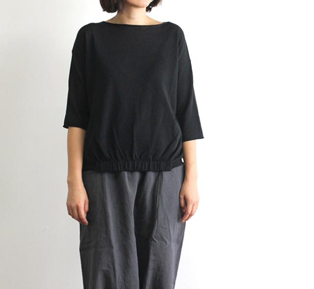 evam eva  エヴァムエヴァ front shirring pullover