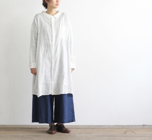 ordinary fits オーディナリーフィッツ レディース LONG BARBER SHIRT ロングバーバーシャツ OF-S013