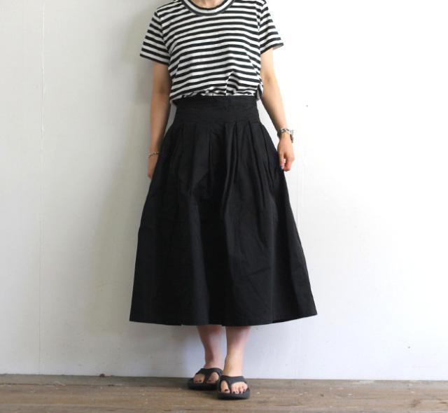 GRANDMA MAMA DAUGHTER グランママドーター チノプリーツロングスカート GK001