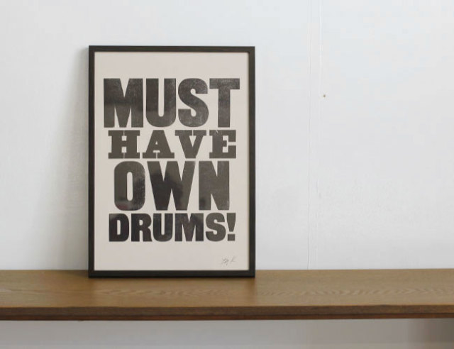 A TWO PIPE PROBLEM LETTERPRESS /MUST HAVE OWN DRUMS BB  Lサイズ
