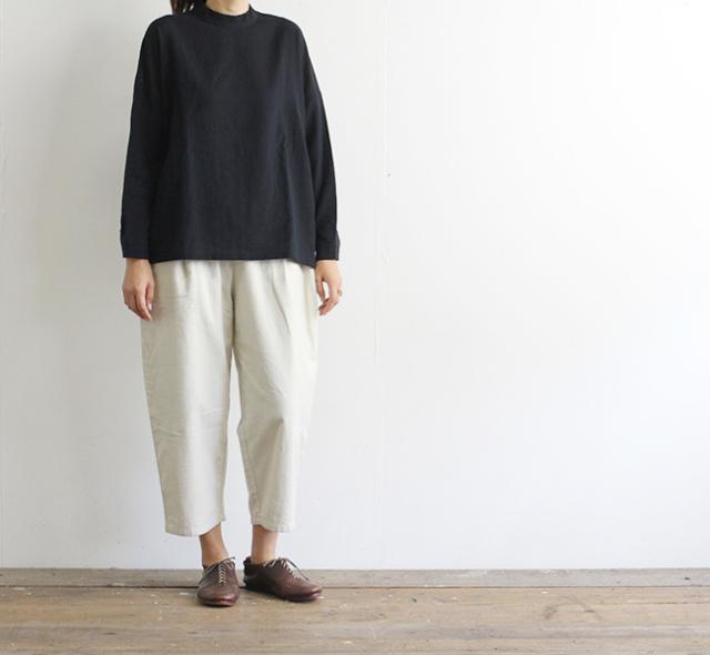 evam eva  エヴァムエヴァ フランネルコットンタックパンツ flannel cotton tuck pants E203T077