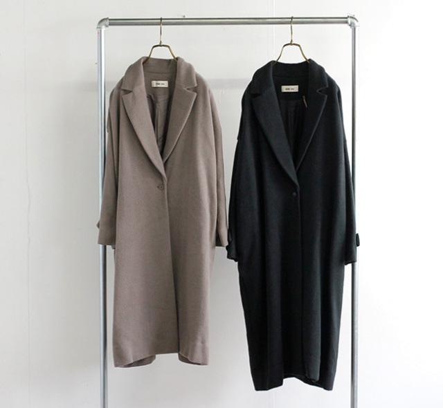 evam eva  エヴァムエヴァ ウールアンゴラテーラードコート wool angora tailored coat E213T148