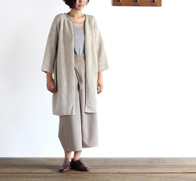 evam eva  エヴァムエヴァ silk wool robe