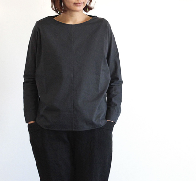 evam eva  エヴァムエヴァ cotton dolman pullover