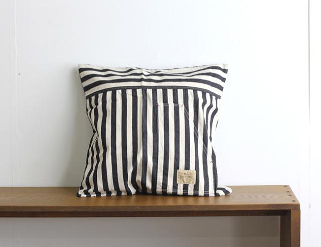 BasShu Cushion Cover BW Stripe クッションカバー BWストライプ