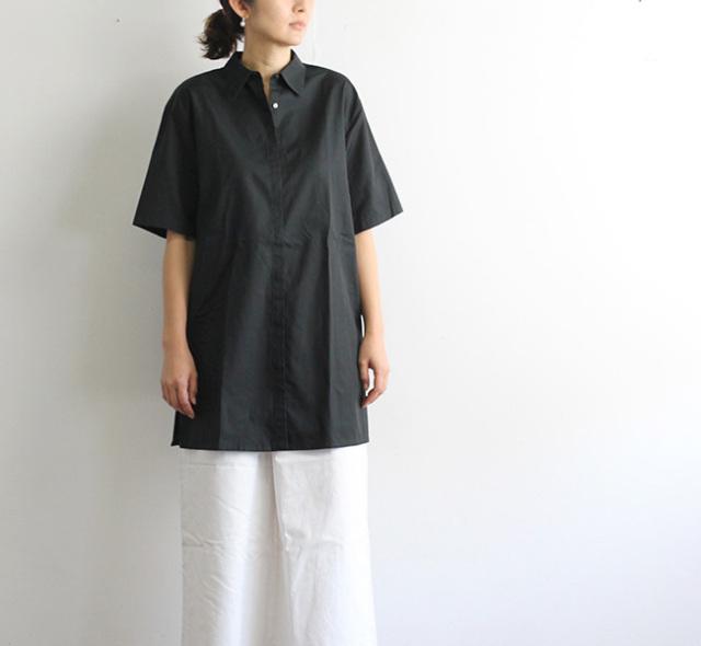 mizuiro-ind ミズイロインド フロントフライワイドロングシャツ    2-239718