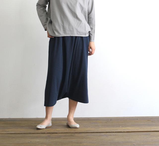 evam eva  エヴァムエヴァ cut&sew sarrouel pants
