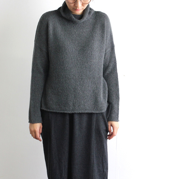 evam eva  エヴァムエヴァ ladder lily yarn turtleneck  E183K149