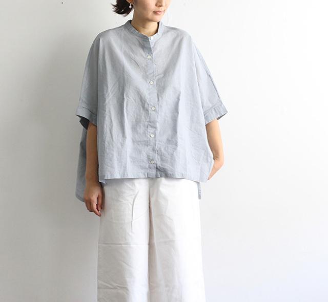mizuiro-ind ミズイロインド スタンドカラーワイドシャツ 2-238415A2