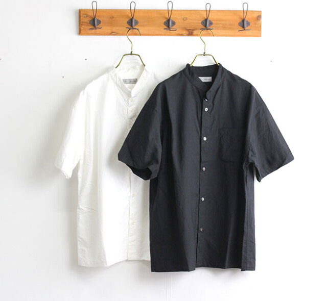 SALE30%OFF nisica ニシカ バンドカラーシャツ 半袖 NIS-911