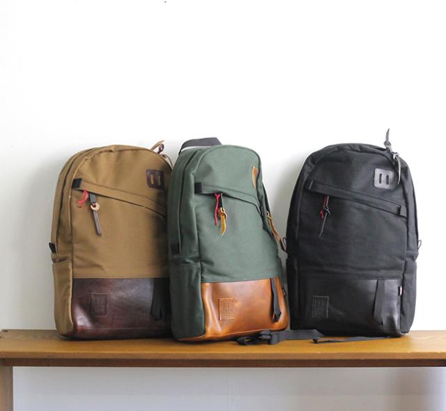TOPO DESIGN トポデザイン デイパック キャンバス/レザー DAYPACK Canvas/Leather