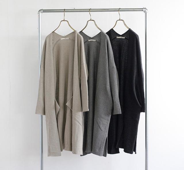 evam eva  エヴァムエヴァ ウールセーブルローブ wool sable robe E213K142