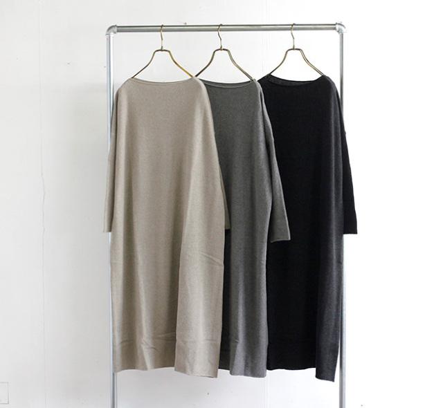 evam eva  エヴァムエヴァ ウールセーブルワンピース wool sable one-piece E213K141