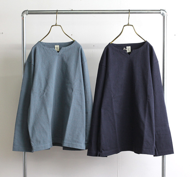 Jackman ジャックマン JM5156 Dotsume LS Skipper Shirt ドツメ長袖スキッパーシャツ