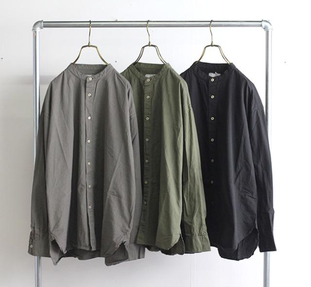 ARMEN アーメン バンドカラーシャツ INAM1702PD 40'S POPLIN UTILITY BANDED COLLAR SHIRT