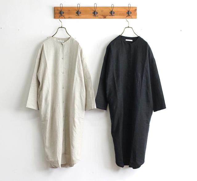 evam eva  エヴァムエヴァ レイジングリネンローブ raising linen robe V203T919