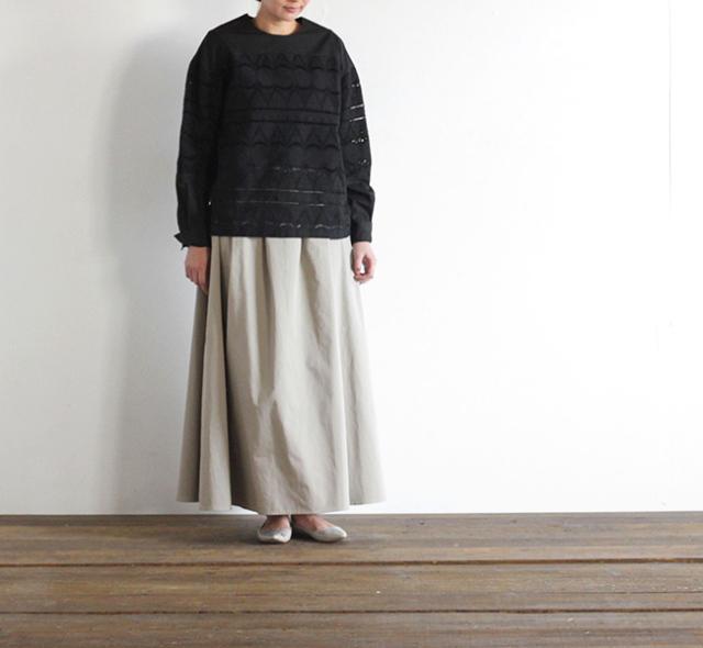 SALE30%// mizuiro-ind  ミズイロインド タックフレアースカート