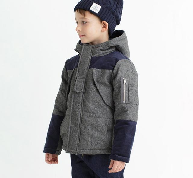 SALE40%OFF SMOOTHY スムージー 子供服  へリンボーンツイードマウンテンパーカー 18jk-14