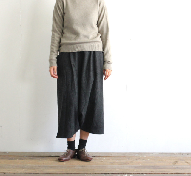evam eva  エヴァムエヴァ glen check sarrouel pants E183T175