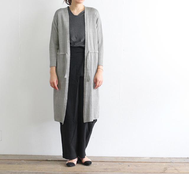 evam eva  エヴァムエヴァ garment dyeing linen robe E191K143