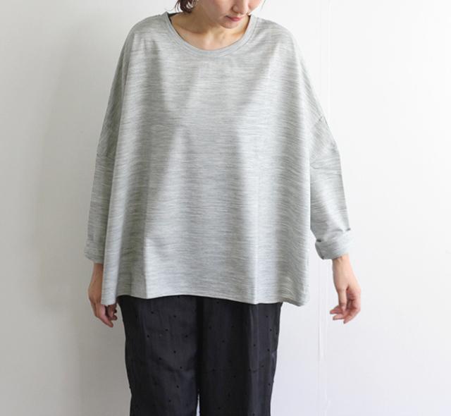 mizuiro-ind  ミズイロインド  クルーネックラウンドヘムTシャツ 3-219350