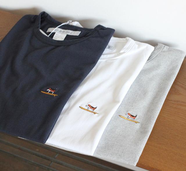 再 EEL Products イール プロダクツ 犬と老主人の海 Tシャツ