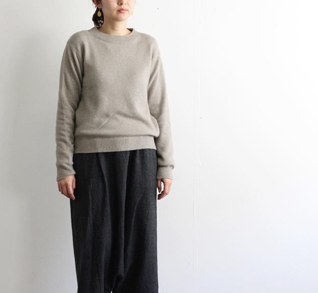 evam eva  エヴァムエヴァ wool sable pullover E183K168