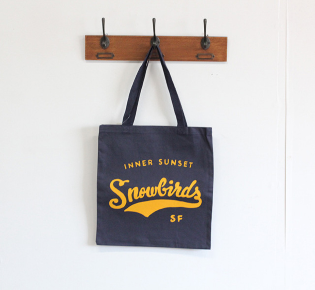 SNOWBIRD COFFEE TOTE BAG INNER SUNSET  トート