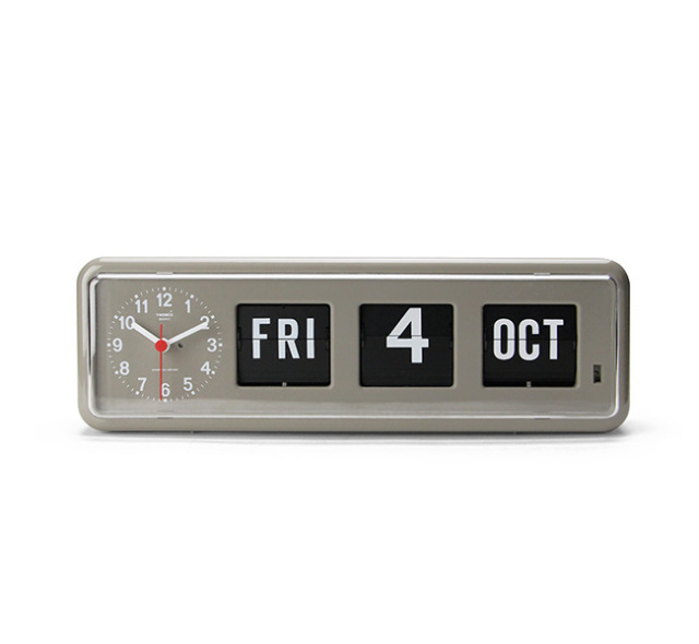 "Twemco Calendar Clock #BQ-38 ""Gray"" トゥエンコカレンダークロック"