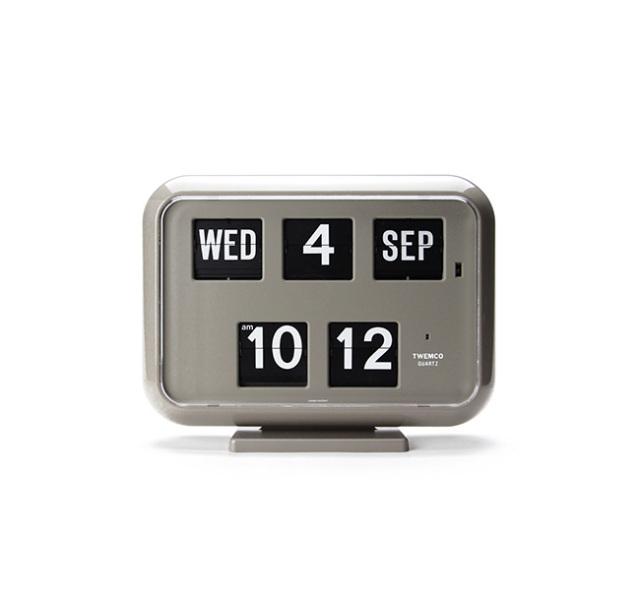 "Twemco Digital Calendar Clock #QD-35 ""Gray""トゥエンコデジタルカレンダークロック"