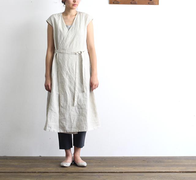 evam eva  エヴァムエヴァ cache coeur sleeveless robe