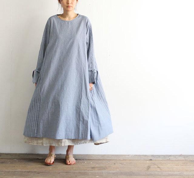 SALE30%OFF Vlas Blomme ヴラスブラム Cotton Stripe サイドギャザーワンピース 13222501